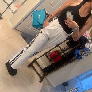 Adidas white break away pants (unisex )